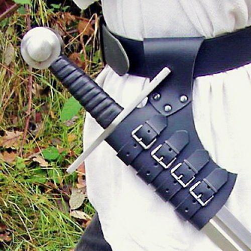 Support de ceinture pour épée marron 2