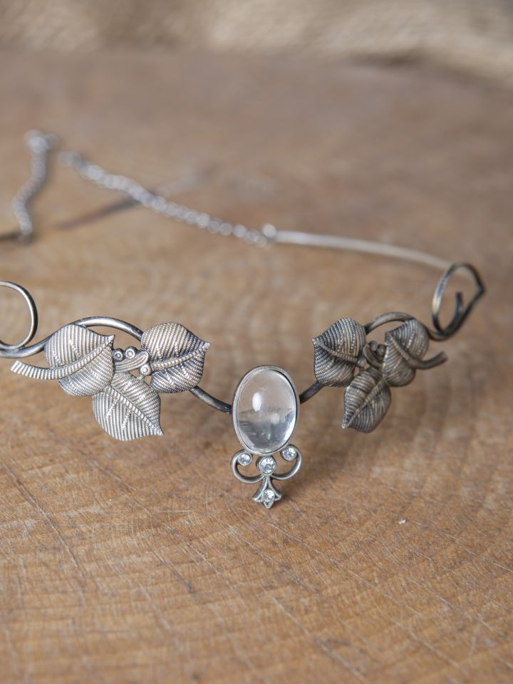 Couronne tiare avec perles blanche 2