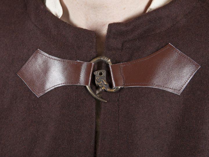 Cape en laine unisexe marron 2