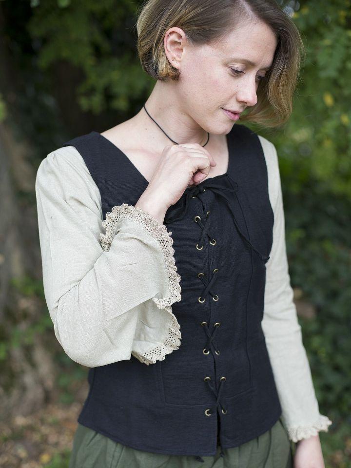Gilet en coton épais, noir S 2
