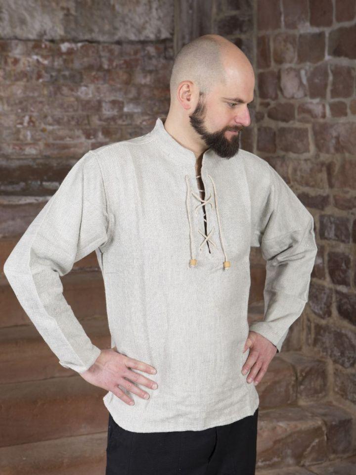 Chemise médiévale épaisse, en gris chiné XL 2