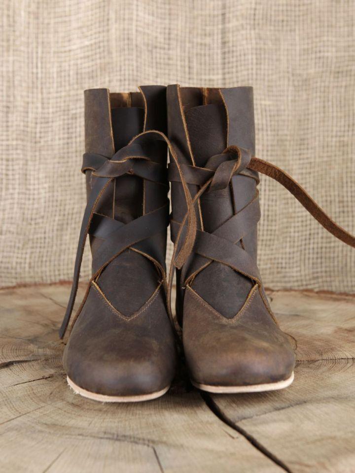 Bottines viking en cuir marron 2