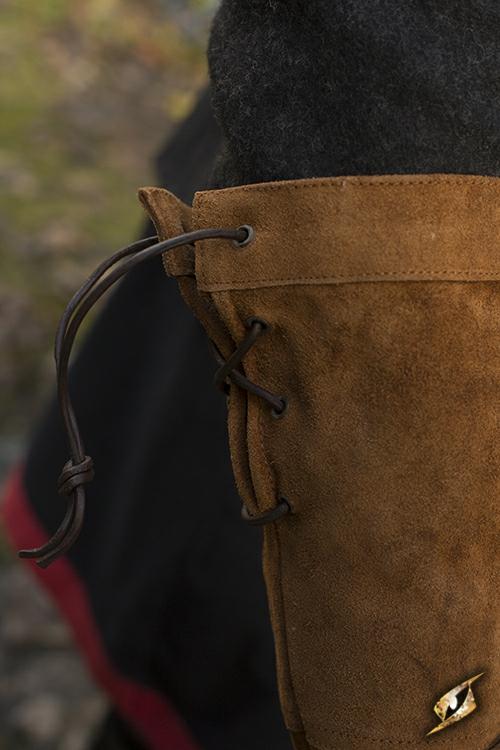 Gants en cuir suédé marron M 2