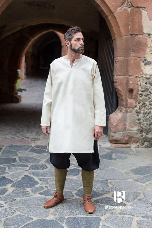 Tunique en coton peigné, blanc-écru L 2