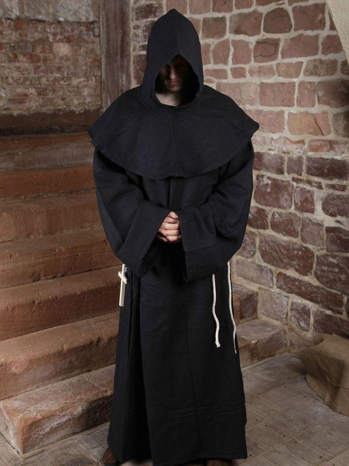 Habit de moine marron | avec croix 2