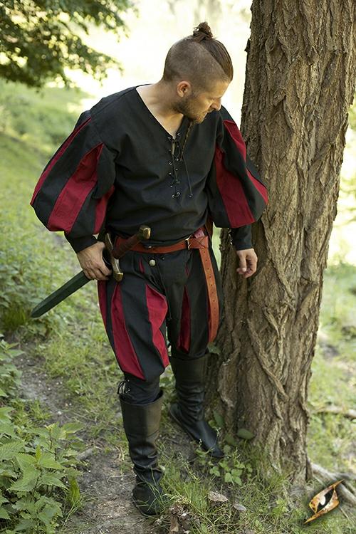 Pantalon Lansquenet noir/rouge M 2