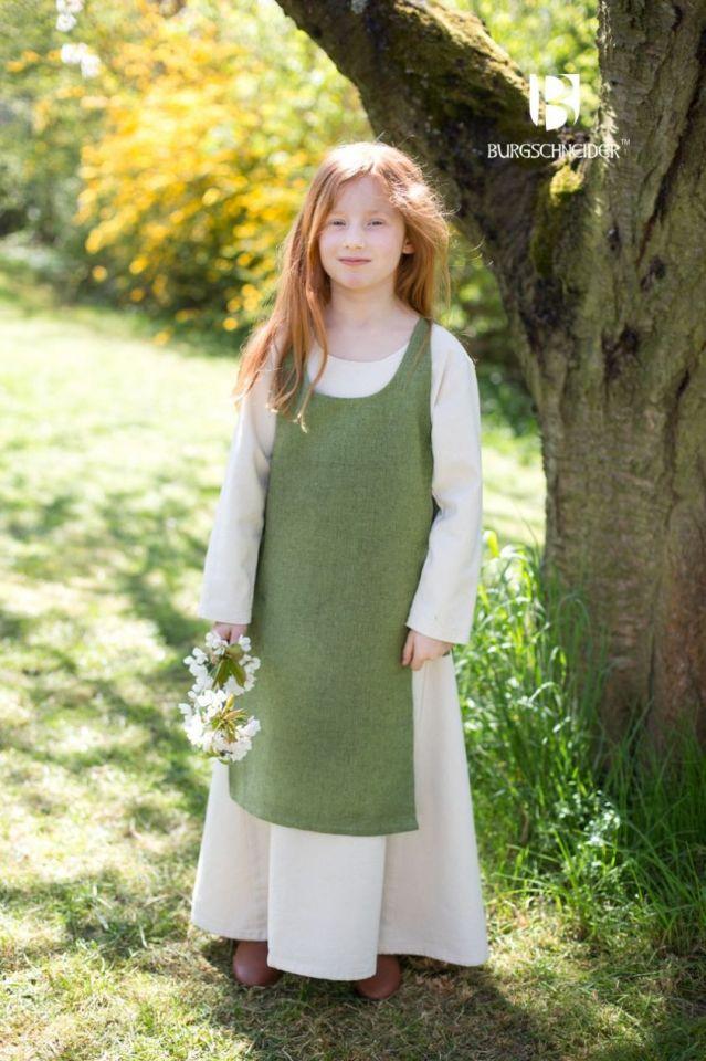 Ensemble robe Ylvi et chasuble Ylva 152 | vert mousse 2