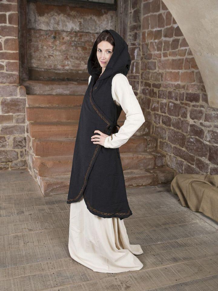 Robe portefeuille Dala en noir S/M 2