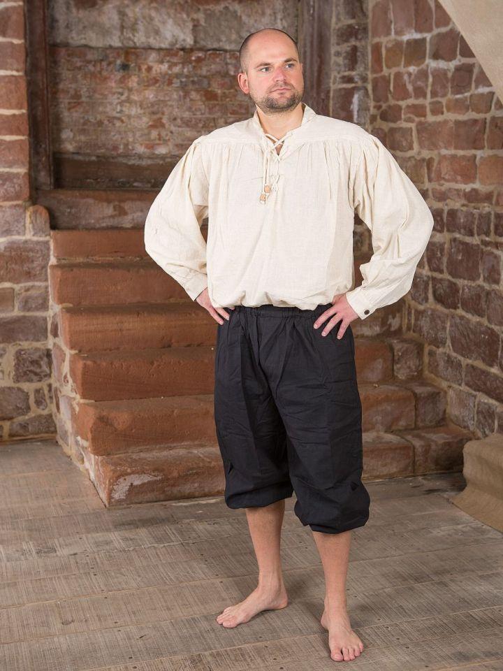Pantalon médiéval court XL | noir 2