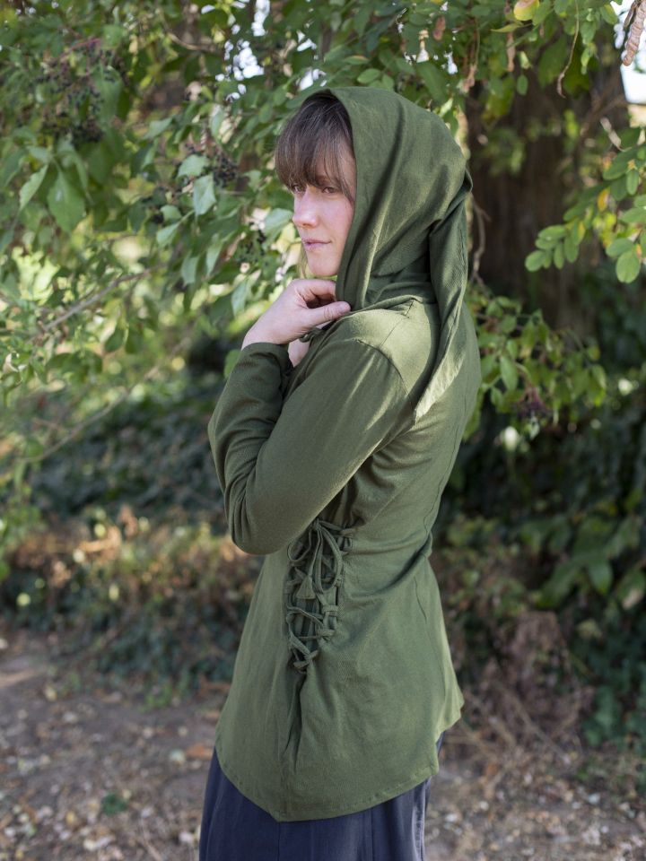 Blouse elfique en vert 2