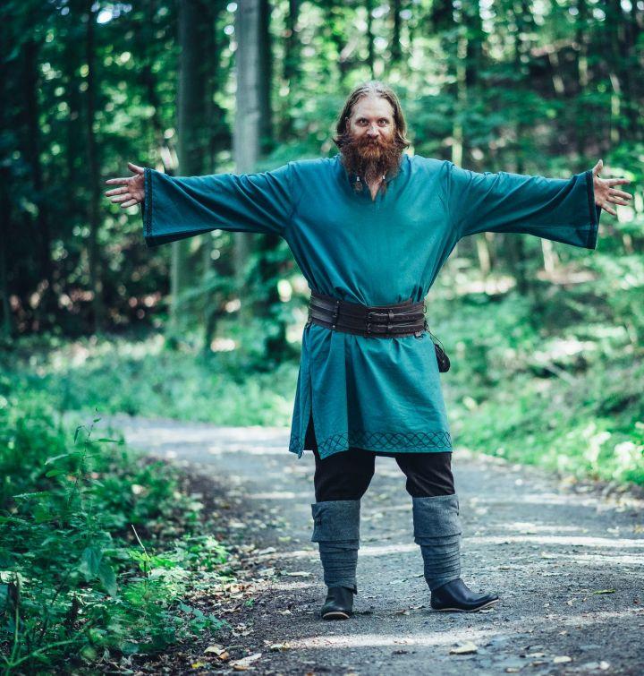 Tunique viking Einar en vert 2