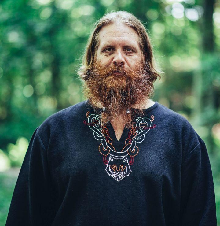 Tunique viking Fenrir noire 2