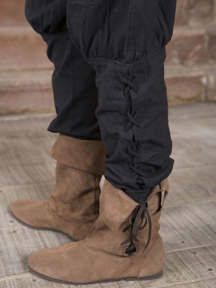 Pantalon en coton en noir M 2