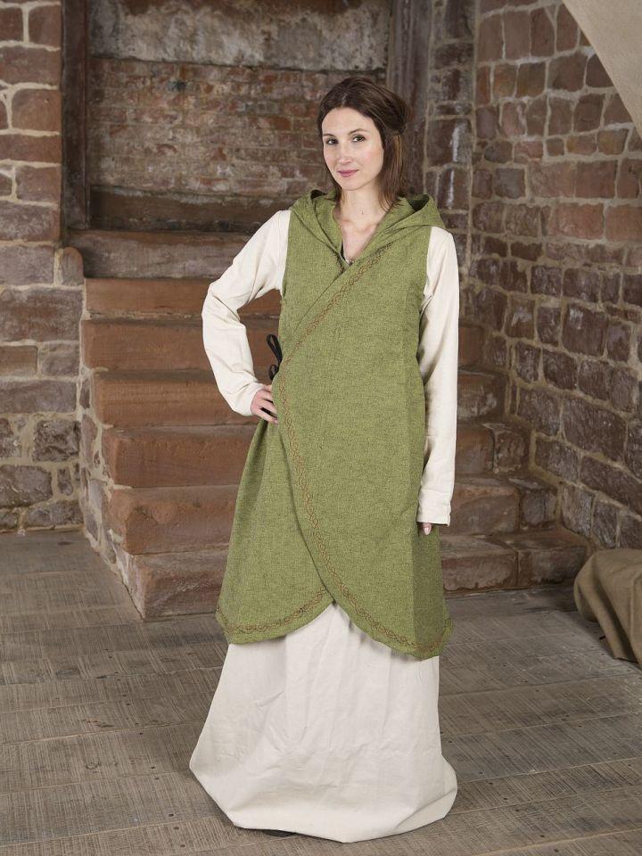Robe portefeuille Dala en vert S/M 2