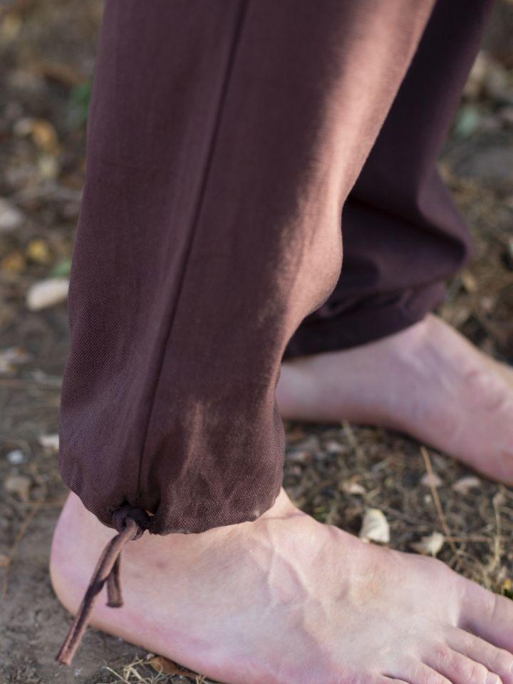 Pantalon médiéval serré aux chevilles, marron L 2