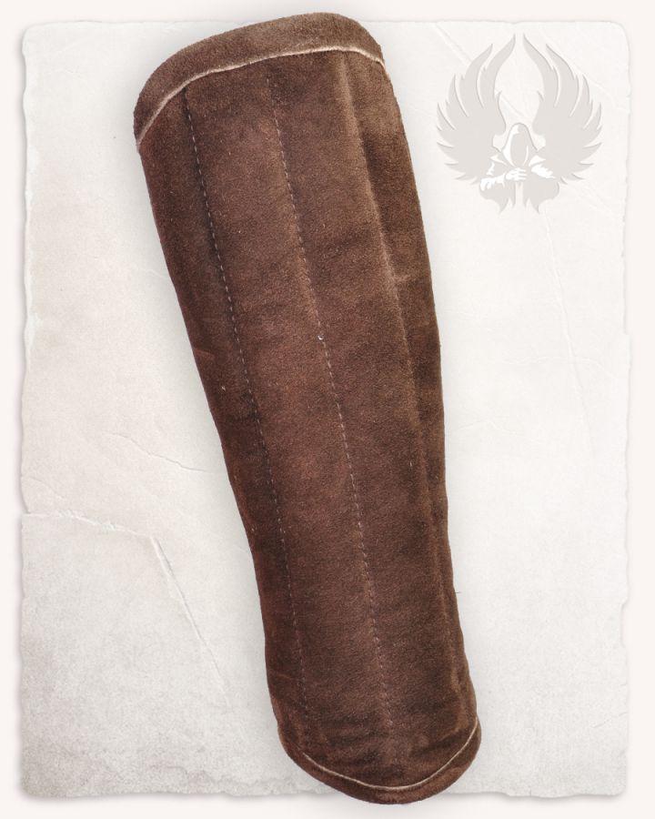 Gambison d'avant-bras, cuir suédé marron 2
