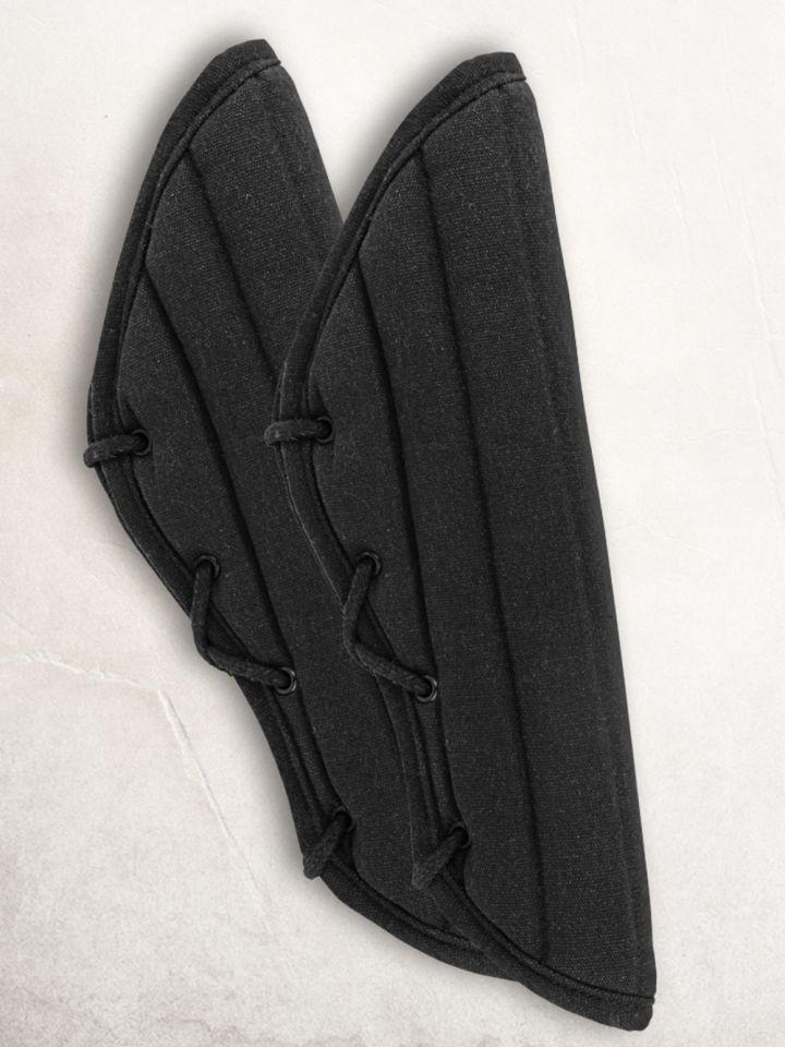 Gambisons d'avant-bras en noir ou marron marron 2