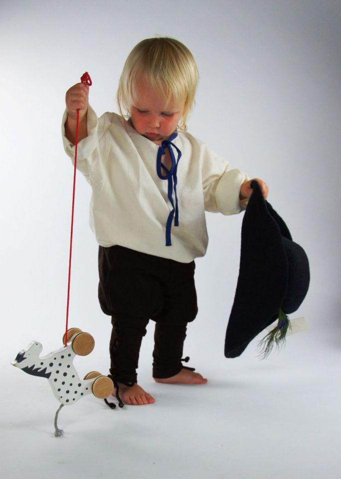 Pantalon médiéval enfant en marron XXXS 2
