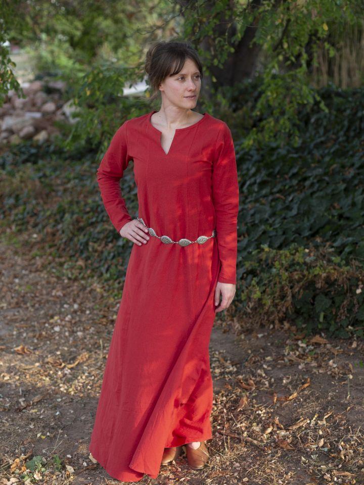 Robe médiévale simple, rouge 2