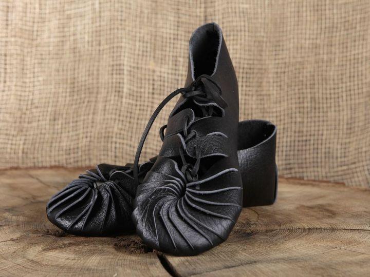 Ballerines médiévales en cuir 38 | noir 2