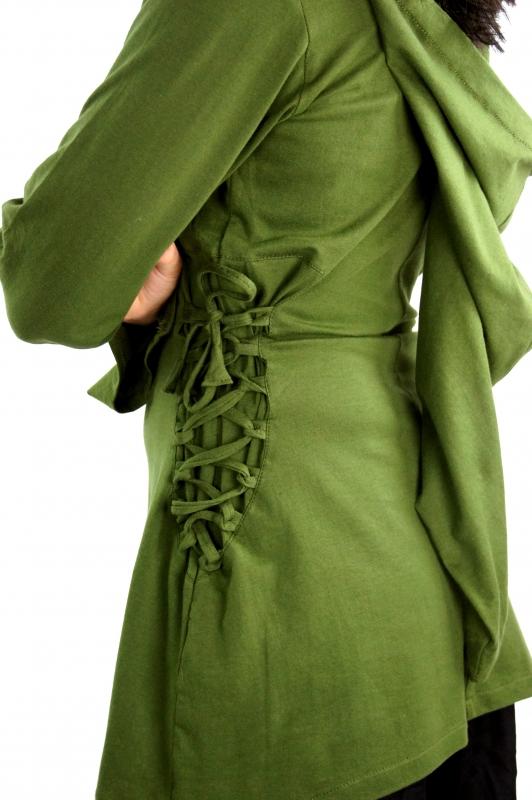 Blouse elfique en vert XXL 2