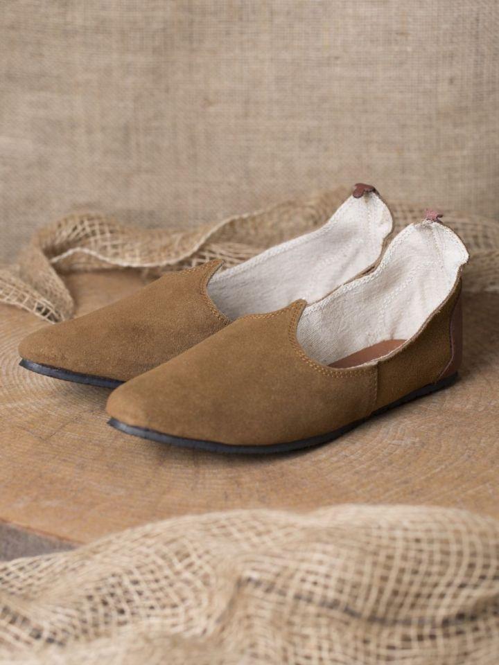 Chaussures médiévales, semelle en caoutchouc, marron 40 2