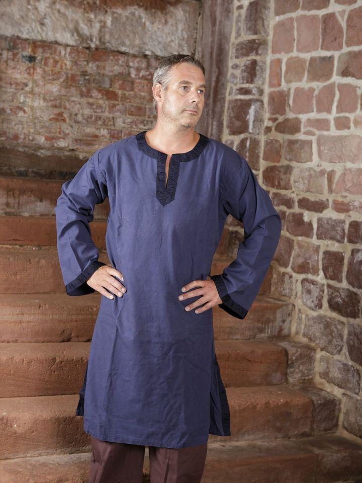 Tunique médiévale à galon en bleu XL 2