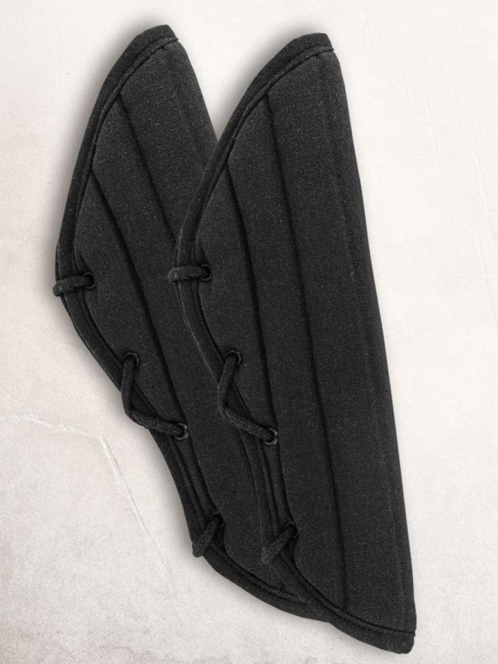 Gambisons d'avant-bras en noir ou marron noir 2