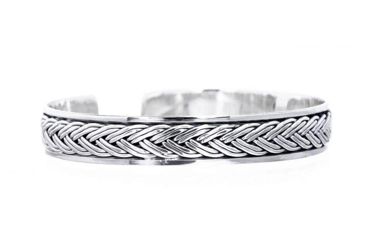 Bracelet motif Viking en argent 2