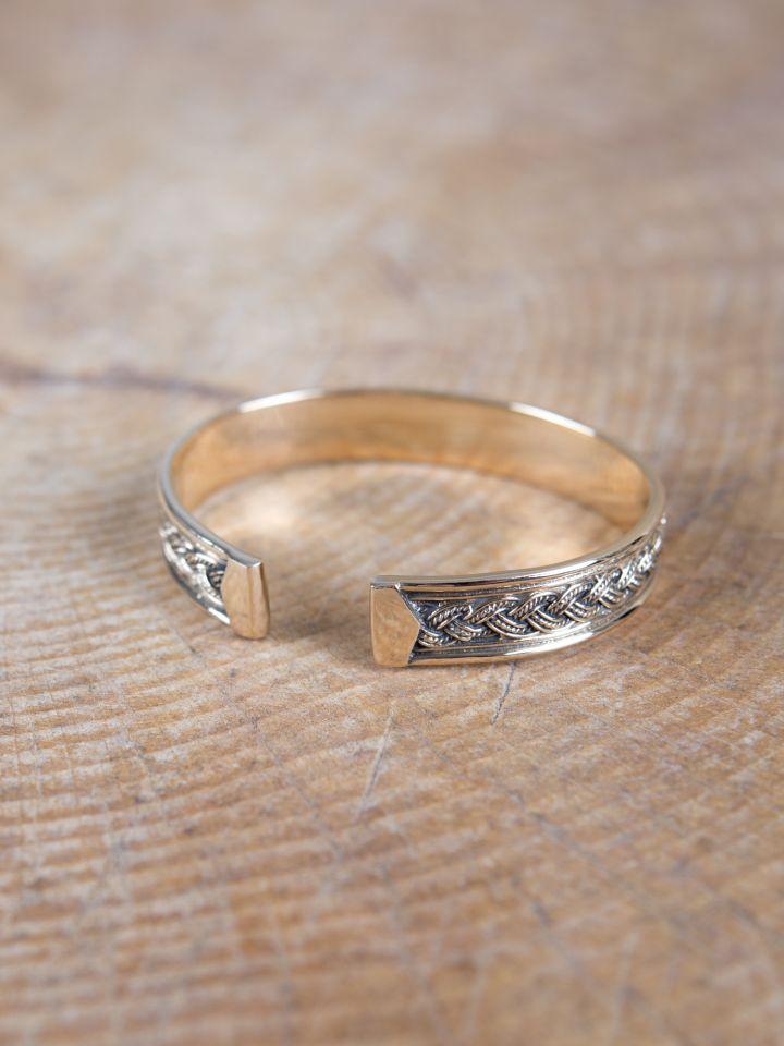 Bracelet Viking à entrelacs en bronze 2