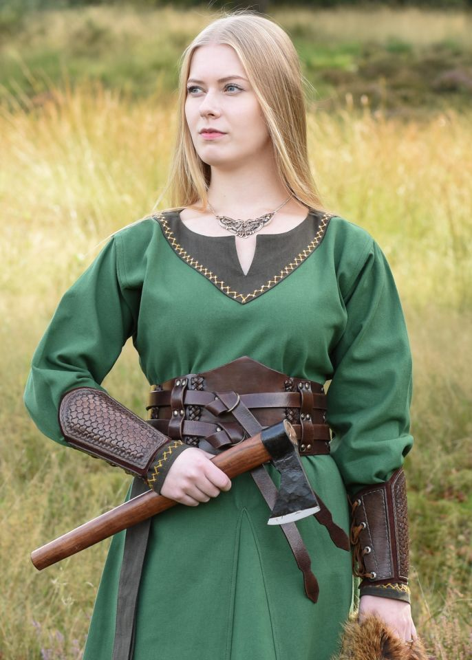 Protège-bras en cuir gaufré 2