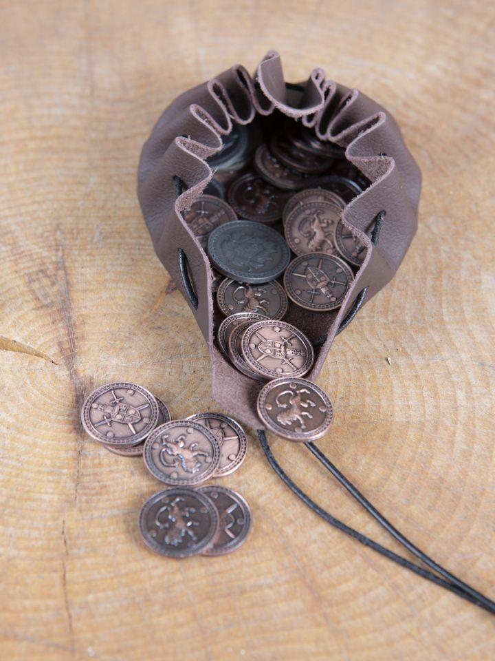 Pièces de monnaie GN Roi avec pochette en cuir 2