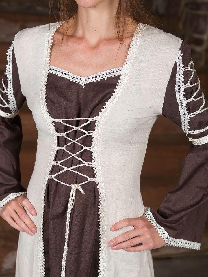 Robe médiévale Martha marron 2