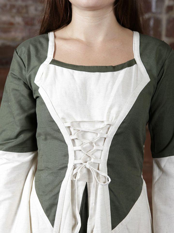 Robe bicolore en lin 2