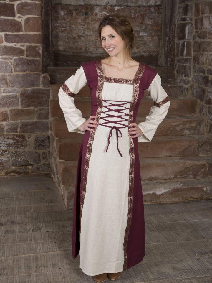 Robe médiévale à manches amovibles 2