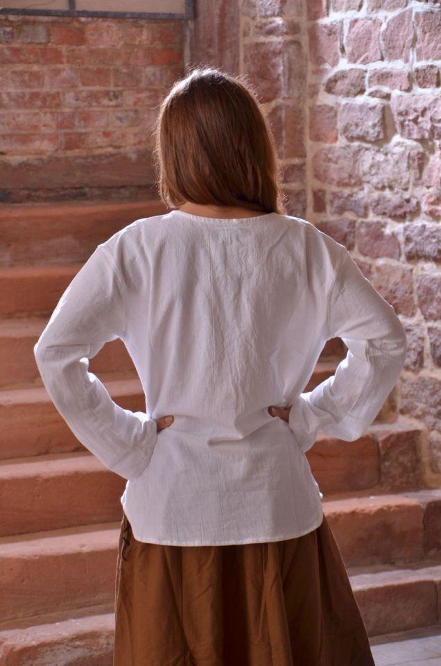 Blouse blanche à manches longues XXXL 2