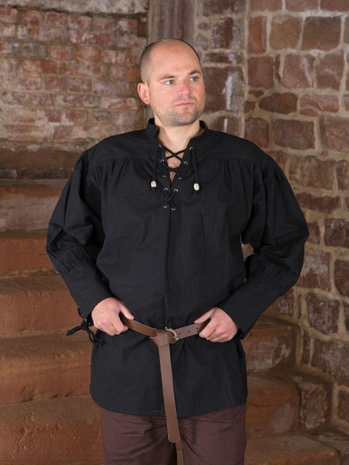 Chemise médiévale noire S 2