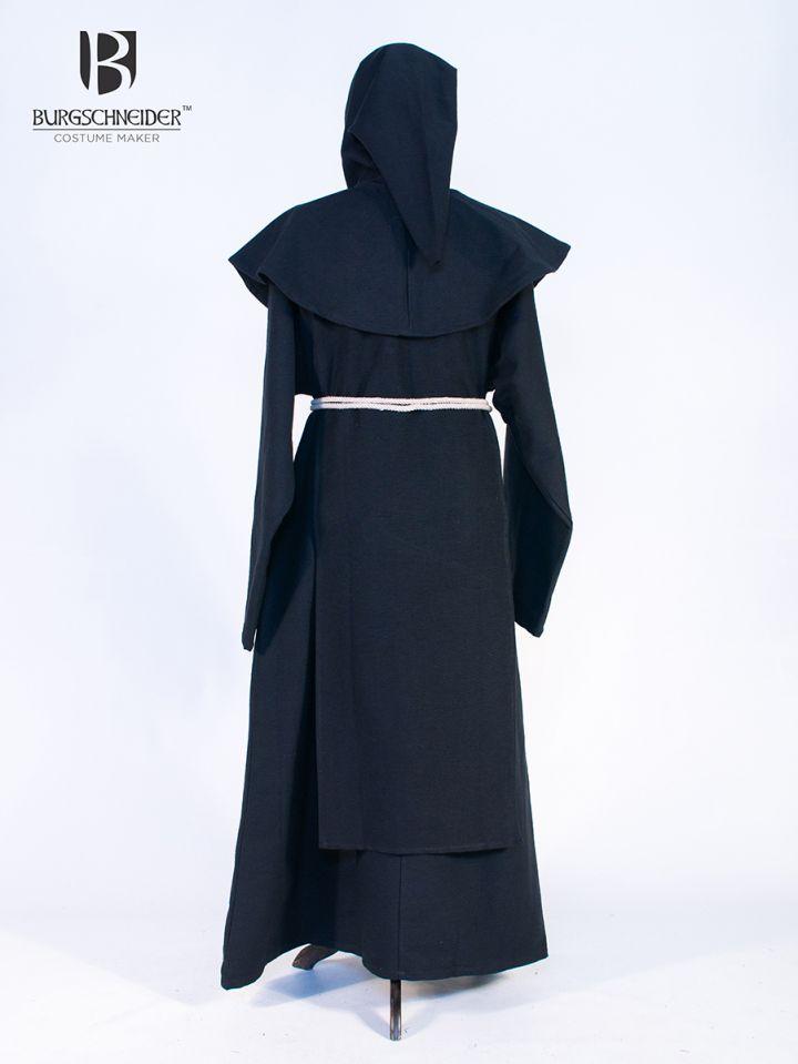 Habit de moine bénédictin en noir 2