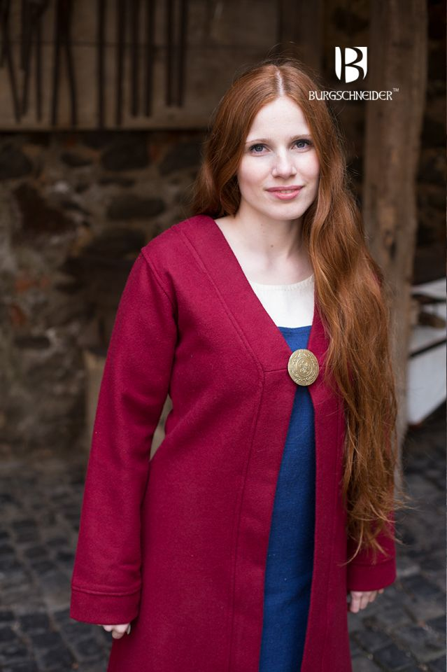 Manteau Viking Aslôg, en rouge 2