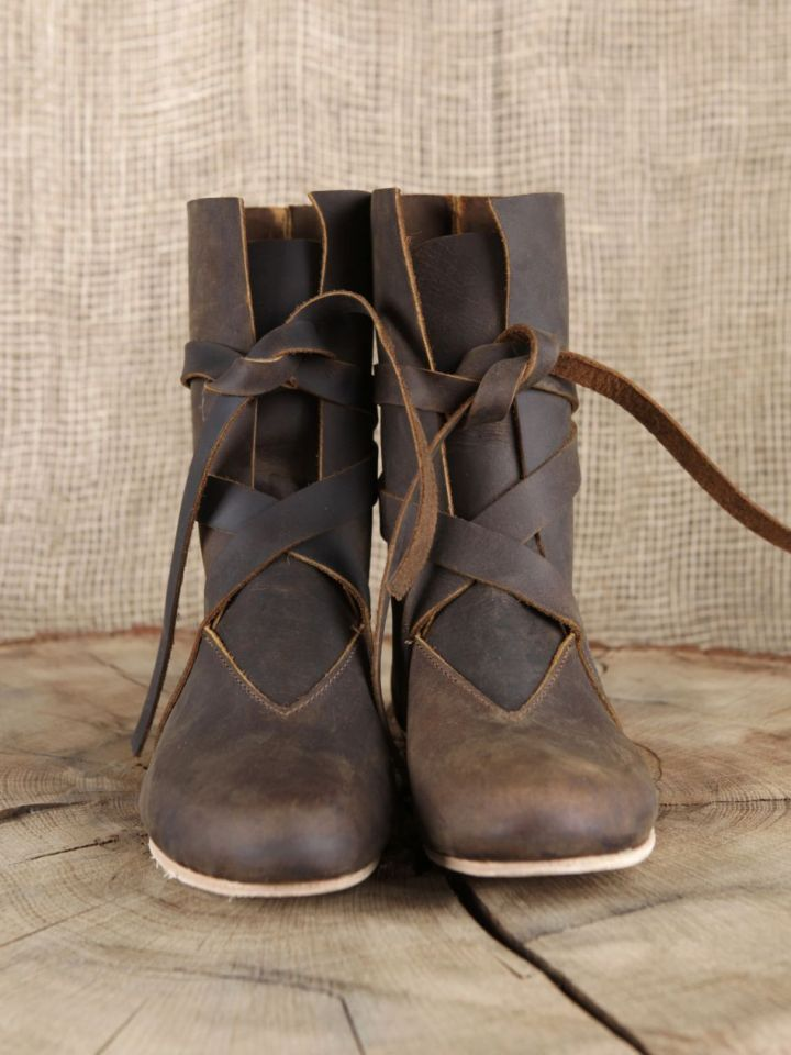 Bottines viking en cuir marron 41 2