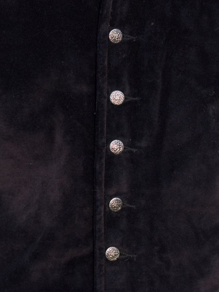 Veston médiéval Ludwig, noir L 2