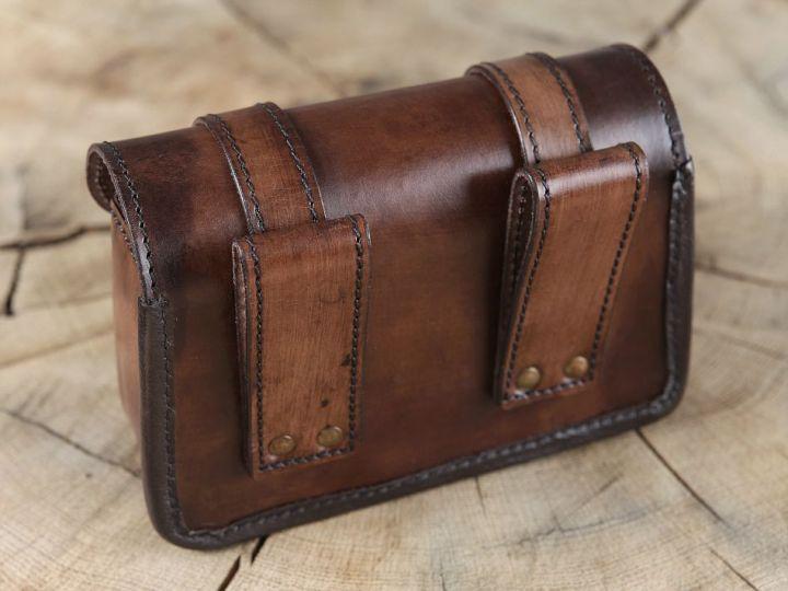 Sacoche de ceinture marron 2