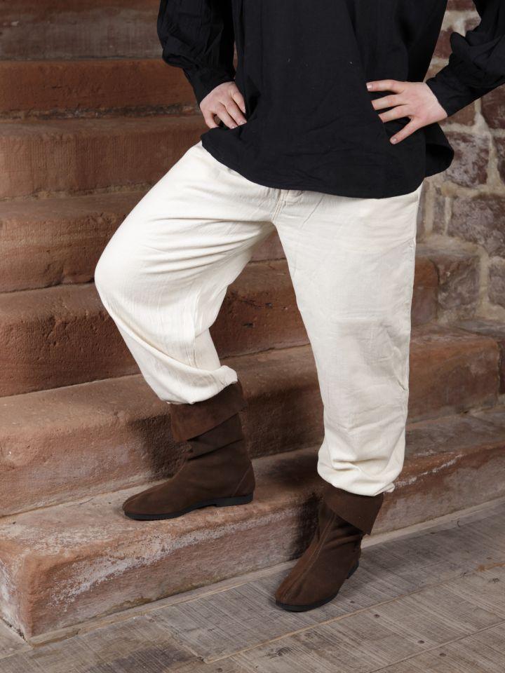 Pantalon à laçage en coton, blanc XXXL 2