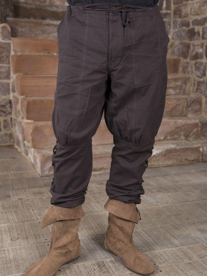 Pantalon en coton en marron XXL 2