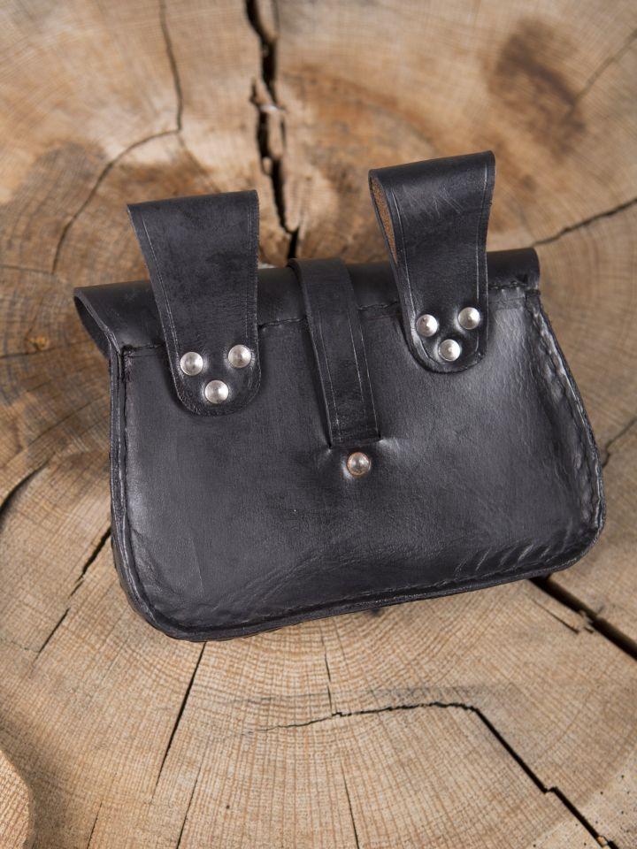 Sacoche de ceinture en cuir, noire 2