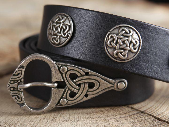 Ceinture cuir à motifs celtiques 2