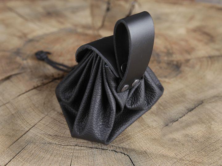 Bourse de ceinture en cuir noir 2