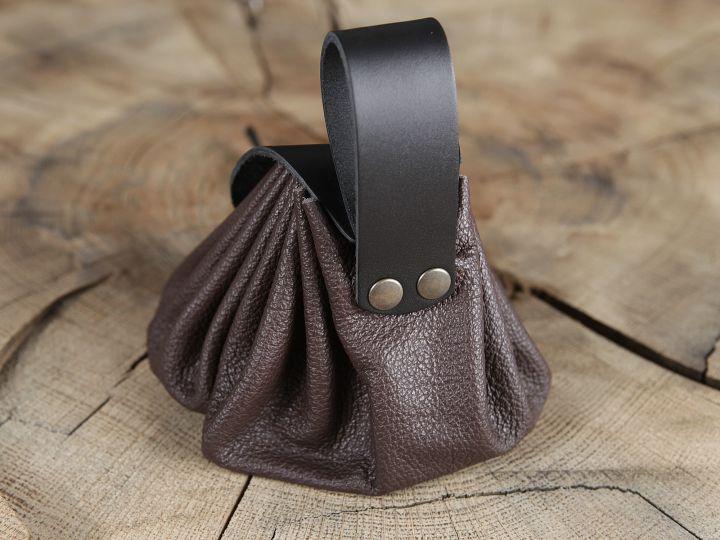 Bourse de ceinture en cuir marron 2