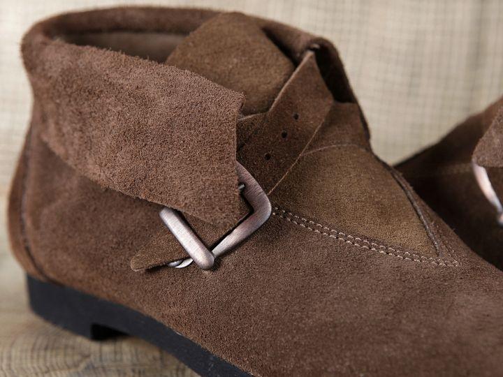 Chaussure en cuir chamoisé 40 | marron 2