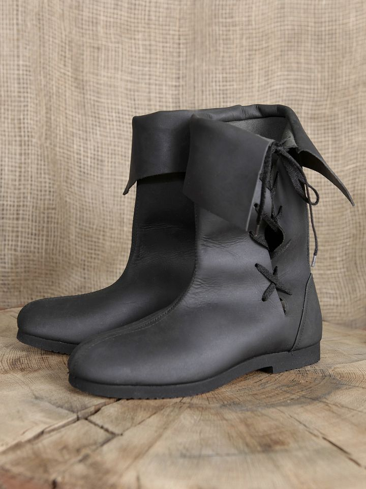Bottines médiévales en cuir 43 | marron 2